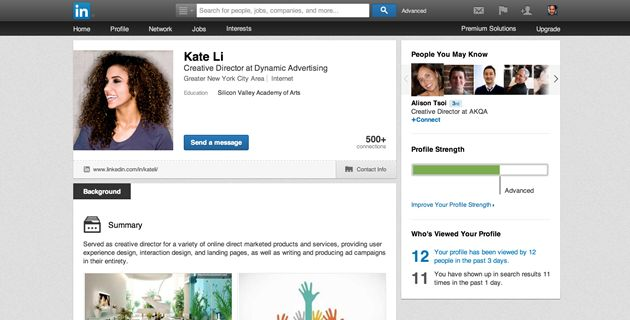 LinkedIn Profile from our expert writers